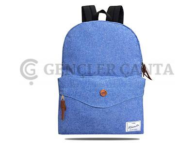 promosyon çizgili mavi sırt çantası