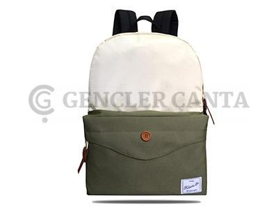 promosyon krem - haki sırt çantası