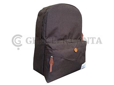 promosyon kahverengi çizgili sırt çantası