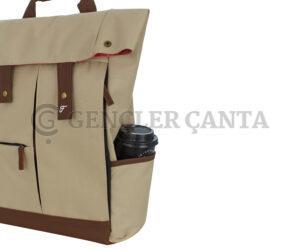 promosyon krem sırt çantası
